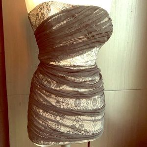 Armani Exchange Tube Dress size 0 black and beige